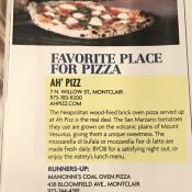 Readers Choice Award Best Pizza in Montclair 2017