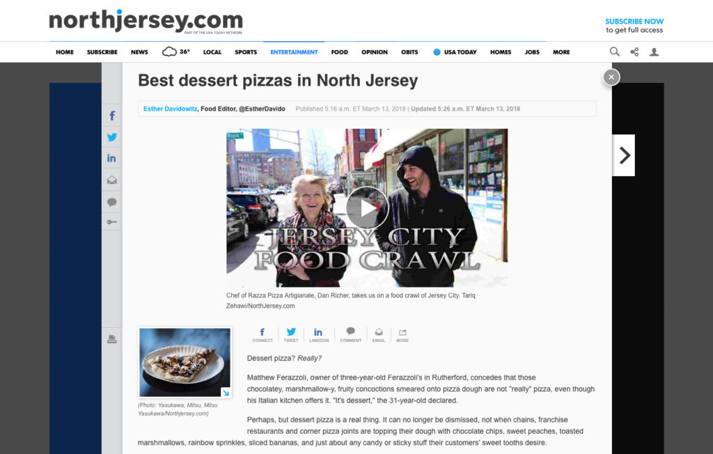 Best Dessert Pizza in NJ - NorthJersey.com 2018