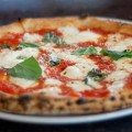 Our traditional Margherita pizza just out of the oven